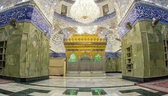 نمایی زیبا از ضریح مطهر حضرت عباس (ع) +عکس