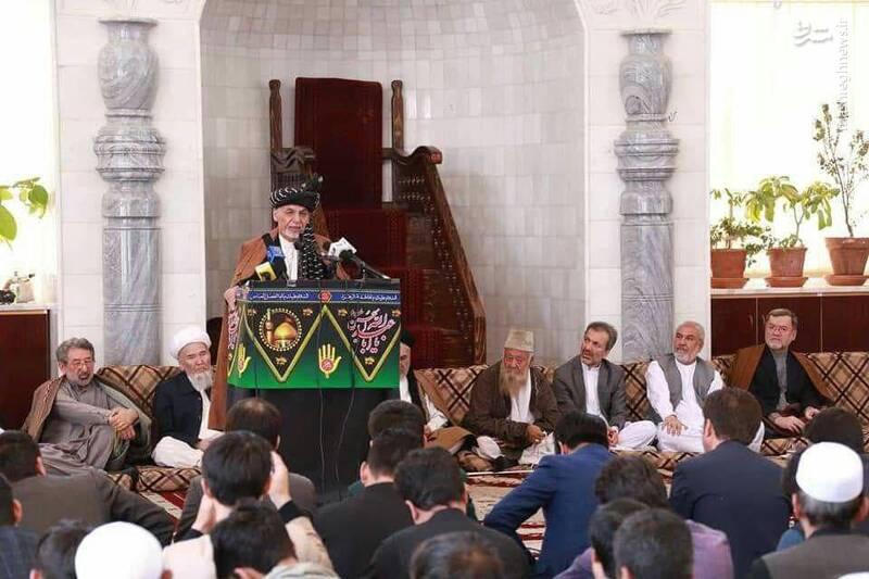 رئیس جمهور افغانستان در مراسم عزاداری عاشورا +عکس