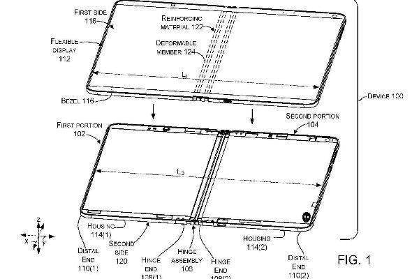 حق امتیاز دستگاه تاشوی مایکروسافت منتشر شد