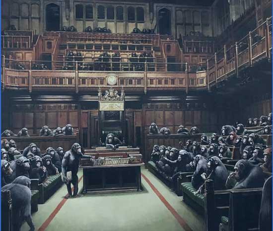 تابلوی نقاشی جنجالی از مجلس عوام انگلیس +عکس