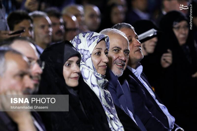 وزیر امور خارجه و همسرش در مراسم روز تهران +عکس