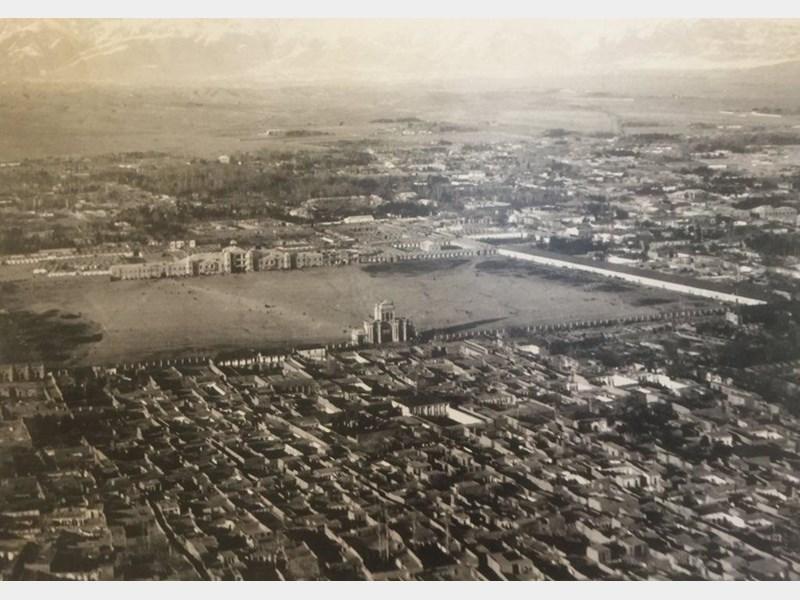 عکس هوایی تهران در زمان سلطنت احمد شاه قاجار +عکس