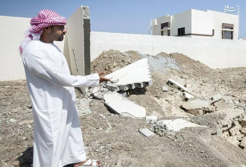 خسارت شدید طوفان به امارات +عکس