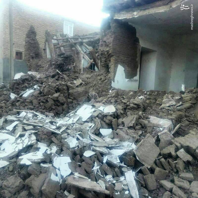 وضعیت وحشتناک یک خانه زلزله زده در سراب +عکس