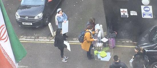 تلاش ناکام ضدانقلاب برای تجمع مقابل سفارت ایران در لندن +عکس