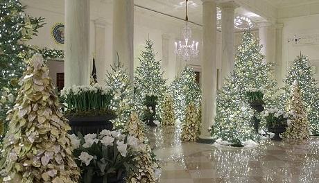 رونمایی همسر ترامپ از تزئینات کریسمس کاخ سفید +عکس