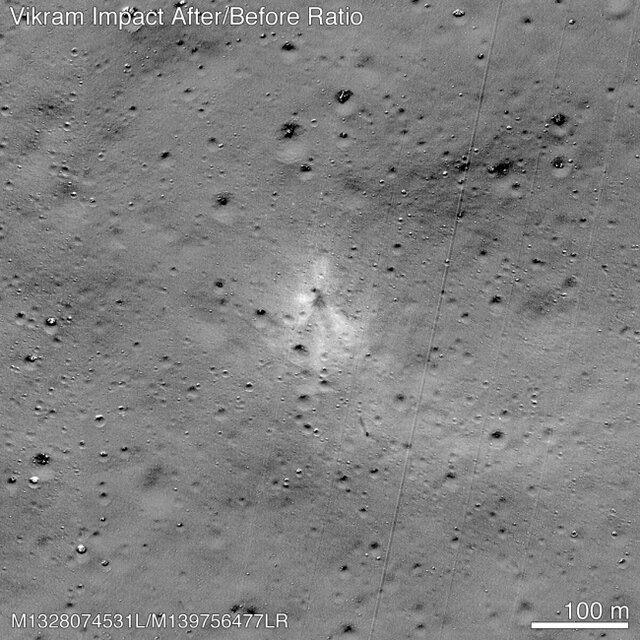 محل برخورد و بقایای باقیمانده از فضاپیمای هندیها پیدا شد