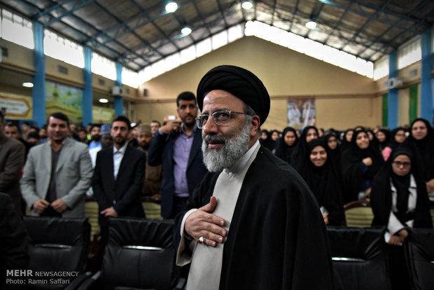 حضور رئیس قوه قضائیه در دانشگاه تهران در روز دانشجو