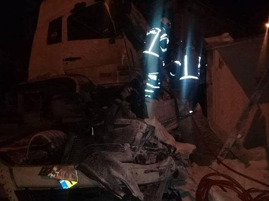 تصادف مرگبار کامیون با تریلر +عکس