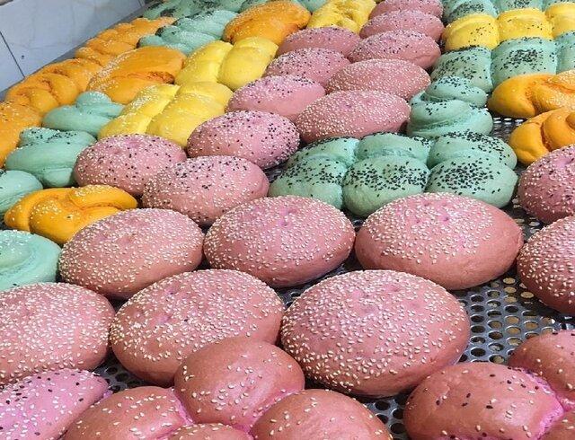 نان رنگی در ایران تولید شد +عکس