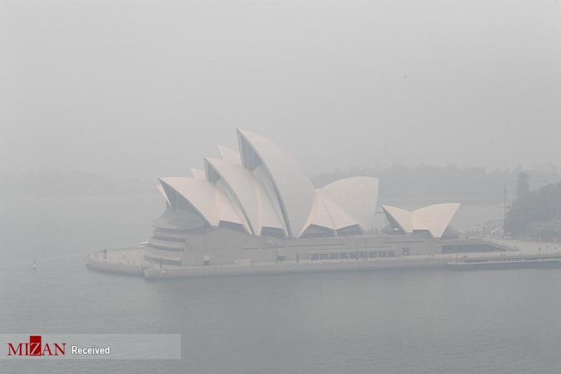 سیدنی  در دود غرق شد +عکس
