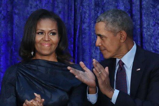 اوباما و همسرش در حال ساخت میز و صندلی +عکس
