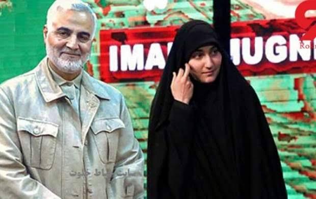اولین پست دختر سردار سلیمانی بعد از شهادت پدرش +عکس