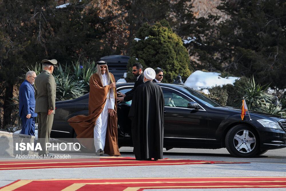 ماشین تشریفات امیر قطر در تهران +عکس
