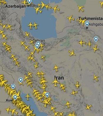 افزایش پروازهای عبوری از آسمان ایران +عکس