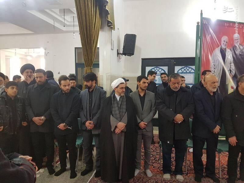 پسر سردار سلیمانی در کنار داماد ابومهدی +عکس