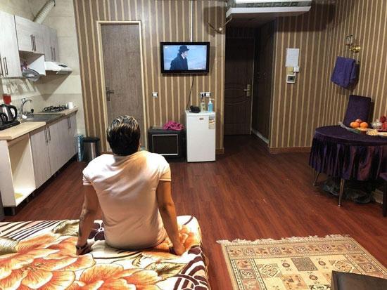اتاق قرنطینه دانشجویان ایرانیِ مقیم چین +عکس