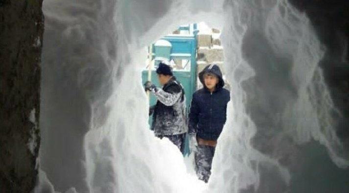 تونل برفی در خلخال +عکس