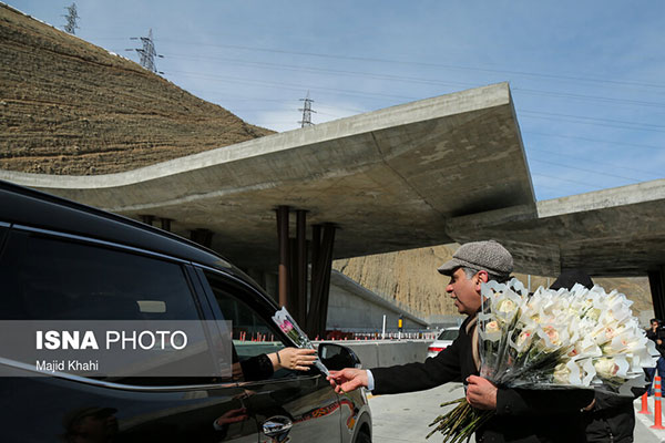 آغاز تردد آزمایشی آزادراه تهران - شمال +عکس