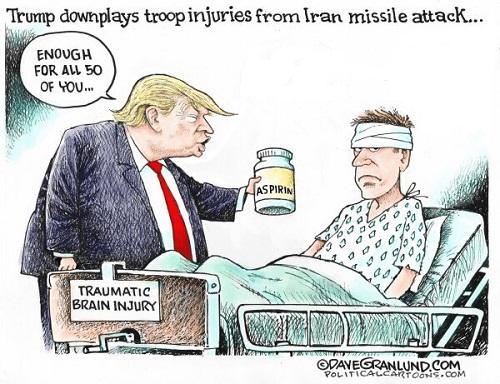 عیادت ترامپ از سربازان آسیب دیده عین الاسد+عکس