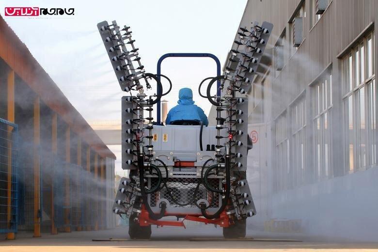 ماشینهای مخصوص در حال ضدعفونی کردن چین از کرونا +عکس