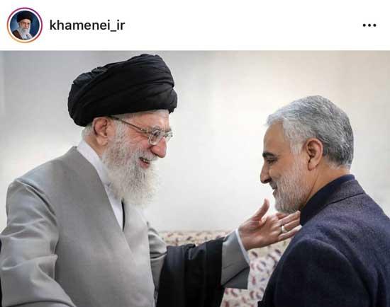تصویر خاص اینستاگرام رهبری درباره سردار سلیمانی +عکس