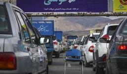 ترافیک سنگین در خروجی کرج +عکس
