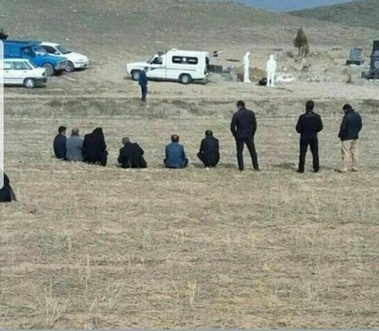 دفن غریبانه قربانی مبتلا به کرونا در ایران +عکس