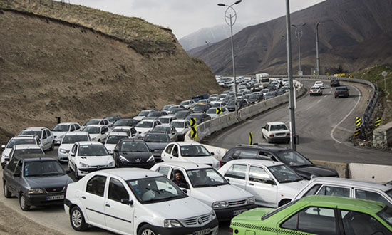 ترافیک سنگین در جاده لواسان +عکس
