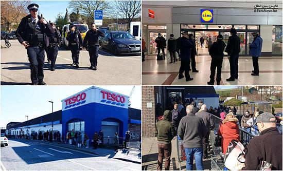 حضور پلیس انگلیس در فروشگاهها+عکس