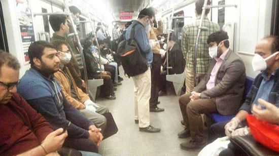 مترو تهران لبریز از جمعیت +عکس