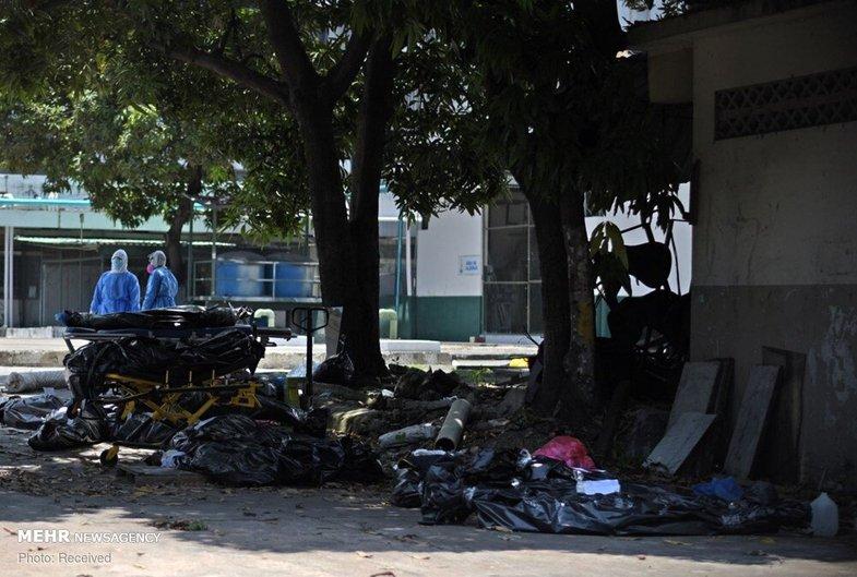 تصاویر دردناک از اجساد رها شده قربانیان کرونا در خیابان+عکس