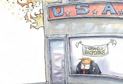 ترامپ مغازهاش را باز کرد+عکس
