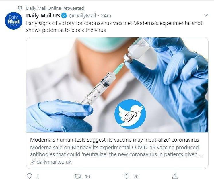 خبر خوش درباره واکسن کرونا