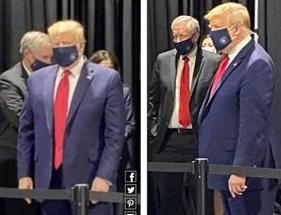 ترامپ برای اولین بار ماسک زد+عکس