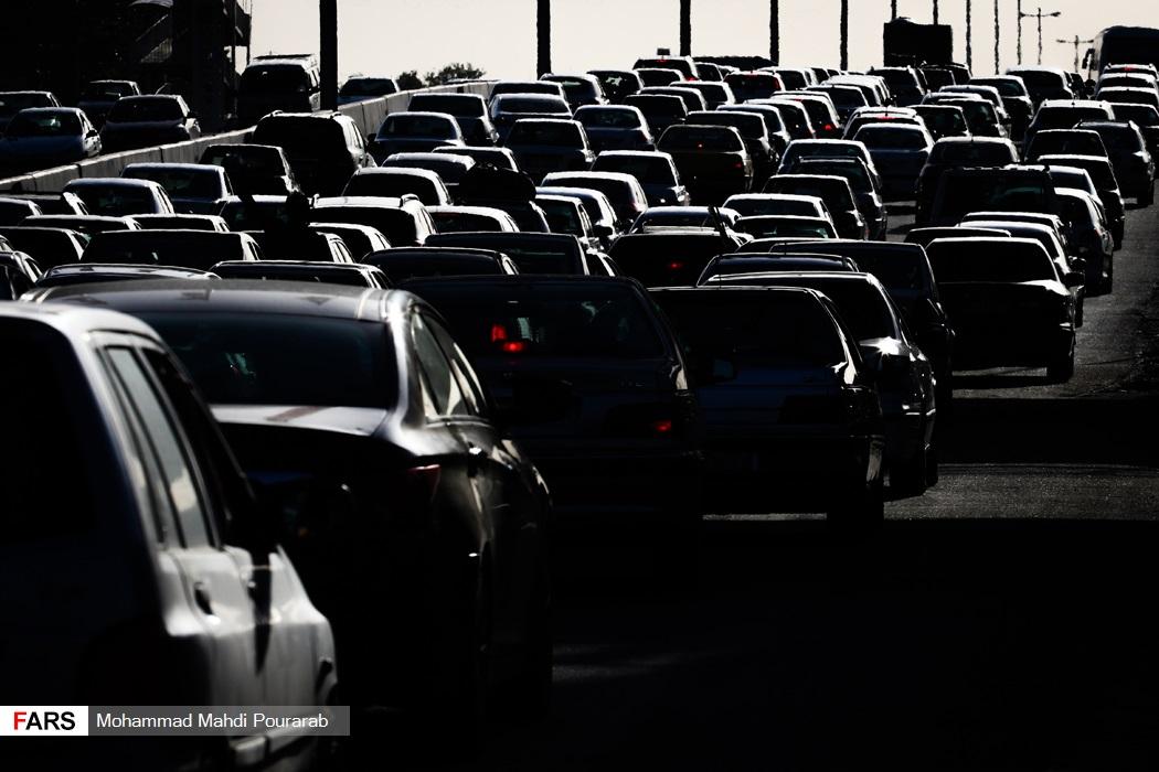 اتوبان تهران- کرج قفل شد +عکس
