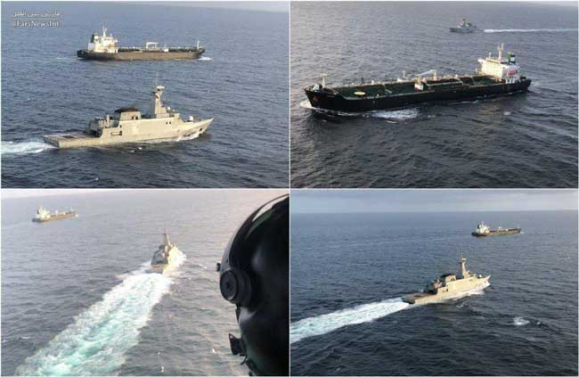اسکورت نفتکش ایرانی توسط نیروی دریایی ونزوئلا+عکس