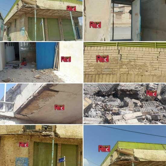 تخریب خانههای دوگنبدان در زلزله+عکس