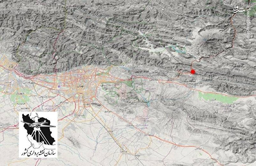 محل زلزله امروز در تهران +عکس