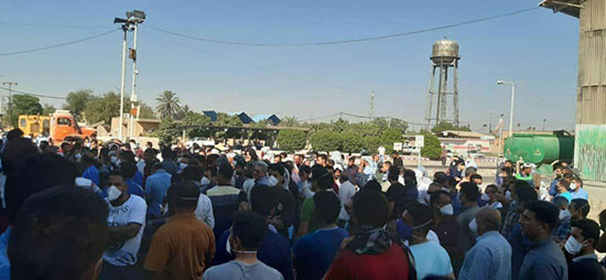 تجمع کارگران نیشکر هفت تپه خوزستان+عکس