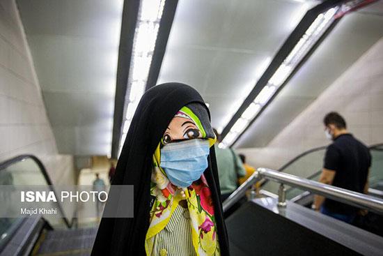 تصویر این دختر در مترو تهران سوژه شد+عکس