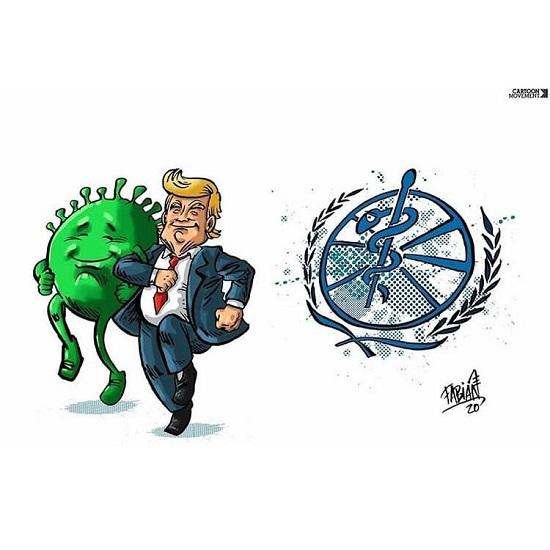 آمریکا این طور از سازمان بهداشت جهانی خارج شد+عکس