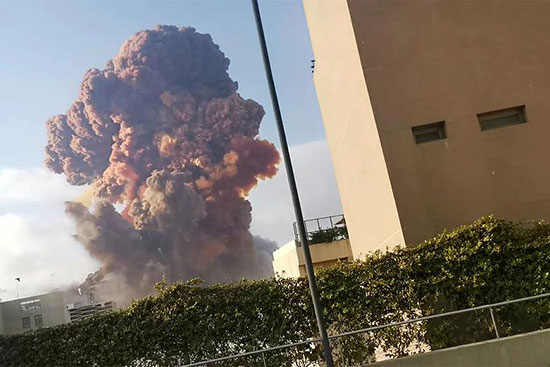 تصاویر دردناک از انفجار لبنان+عکس