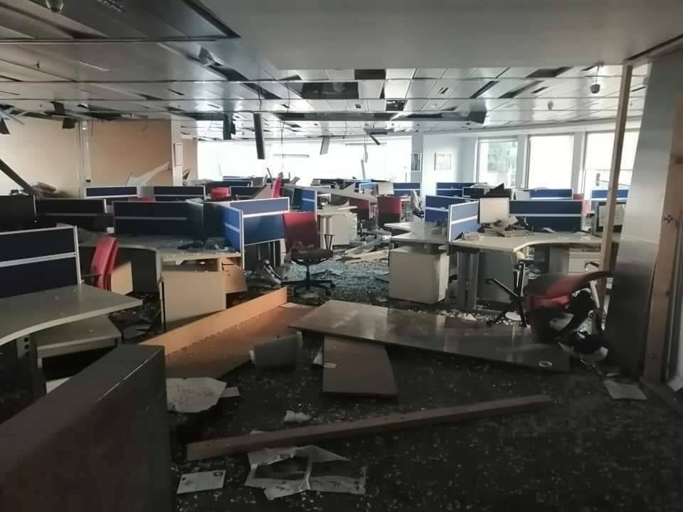 تخریب دفتر روزنامه لبنانی در انفجار بیروت+عکس
