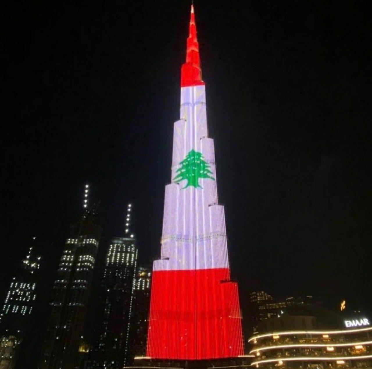 همدردی جالب امارات با لبنان +عکس