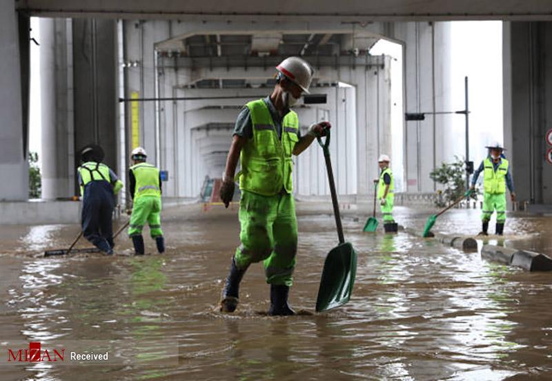 کره جنوبی زیر باران شدید غرق شد+عکس