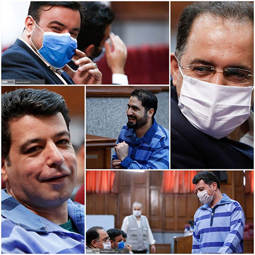لبخند متهمان اقتصادی در دادگاه+عکس