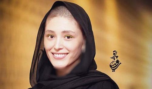 بازیگر زن ایرانی کچل کرد+عکس