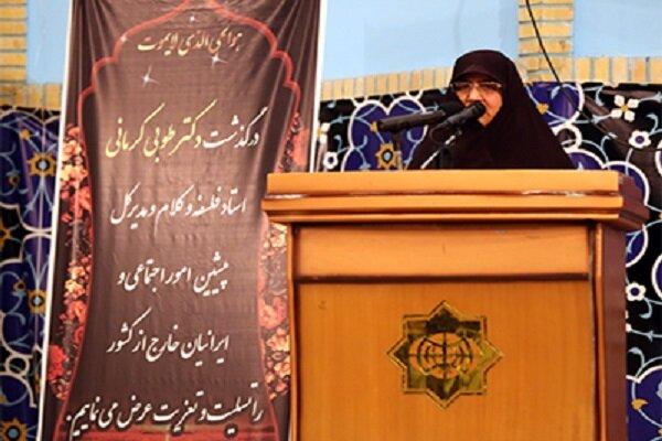مرحومه کرمانی زن تراز انقلاب و بانوی نه شرقی نه غربی بود