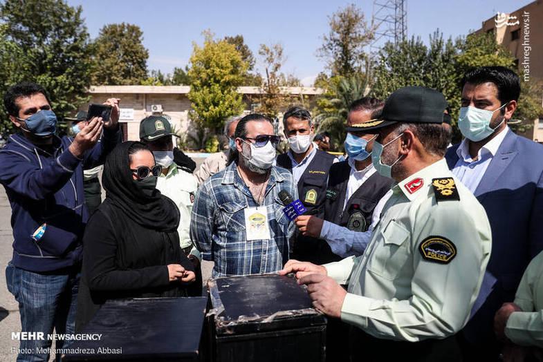 سلبریتی ایرانی و دخترش در پلیس آگاهی + عکس